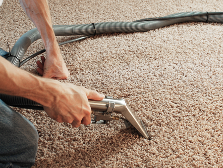 Man Cleaning a Carpet in Houston, TX